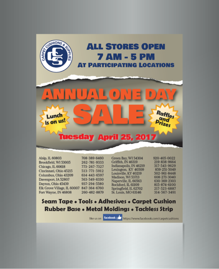 One Day Sale Flyer