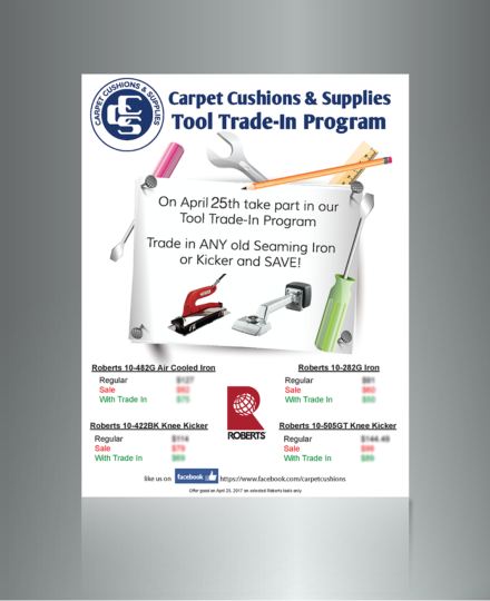 One Day Sale Tool Trade In Flyer